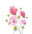 Beautiful summer flowers watercolor vector image vector image