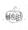 black and white pumpkins for Halloween vector image vector image