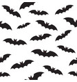 black bat seamless pattern on white vector image vector image