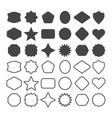 black line and silhouette empty shapes emblems set vector image