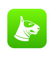 bull terrier dog icon digital green vector image