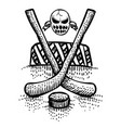 cartoon image of hockey icon sport symbol vector image vector image