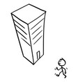 cartoon man or businessman walking in modern vector image vector image