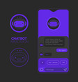 chatbot mobile app concept trendy flat design vector image