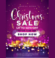 christmas sale design with ornamental ball and vector image vector image