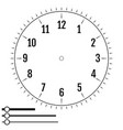 clock face round design for men blank display vector image vector image