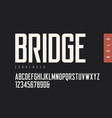 condensed bold retro sans serif typefaces vector image vector image