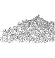 crowd people on stadium with copyspace vector image vector image