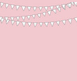 cute textile bunting flags for wedding birthday vector image vector image