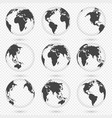 earth globe world map set planet with continents vector image vector image