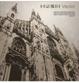 Facade of Milan Cathedral vector image