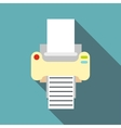 Fax icon flat style vector image vector image