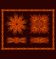 flaming patterns set vector image