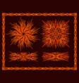 flaming patterns set vector image