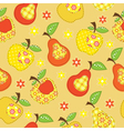 Fruit patchwork seamless pattern vector image vector image