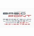 futuristic and techno display font design vector image