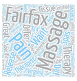 Get A Massage In Fairfax text background wordcloud vector image vector image
