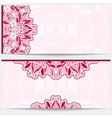Greeting card with a pink floral pattern Gentle vector image
