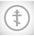 Grey orthodox cross sign icon vector image vector image