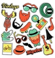 Hipster Vintage Fashion Stickers Patches Badges vector image vector image
