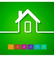 Home line background vector image