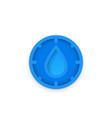 humidity icon for apps and web vector image vector image