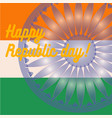 indian art flag india republic day freedom vector image vector image