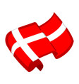 isolated flag of denmark vector image