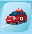 isolated sushi delivery car vector image vector image