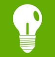 light bulb icon green vector image
