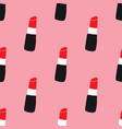 lipstick seamless pattern hand drawn fashion and vector image