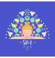 logo with color hand drawn flower for vector image