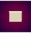 Louvers rolls sign icon Window blinds or jalousie vector image vector image
