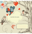 Love birds talk vector