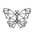 low poly butterfly design vector image vector image