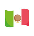 mexican flag national symbol icon vector image