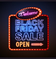 neon sign black friday sale vector image vector image