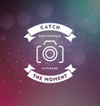 Photography Logo Design Template Retro Badge or vector image vector image