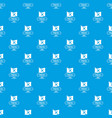 pirate flag pattern seamless blue vector image vector image