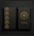 premium dark mandala decoration banners card vector image vector image