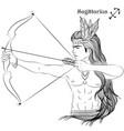 sagittarius line art vector image vector image