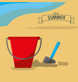 sand bucket and summer design vector image