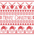 Scandinavian Merry Christmas pattern with Santa vector image vector image