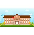 school building landscape vector image vector image