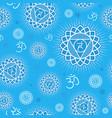 seamless pattern with vishuddha chakra vector image vector image