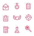 set icon Valentines day vector image