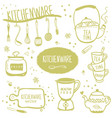 set kitchenware vector image vector image