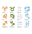 Set of Astrological Zodiac Symbols on White vector image