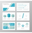Set of blue and turquoise template for vector image