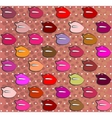 set of colorful lips vector image